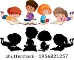 set of different kids cartoon... | Shutterstock .eps vector #1956821257