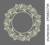 decorative frame elegant vector ...   Shutterstock .eps vector #1956821734