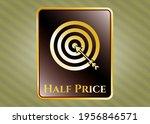 golden badge or emblem with... | Shutterstock .eps vector #1956846571