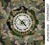 blind icon inside camouflage... | Shutterstock .eps vector #1956846637