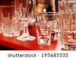 empty glasses   Shutterstock . vector #195685535