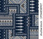 seamless ethnic patchwork... | Shutterstock .eps vector #1956858907