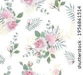 seamless pattern  with...   Shutterstock .eps vector #1956861514
