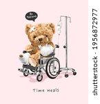 time heals slogan with patient...   Shutterstock .eps vector #1956872977