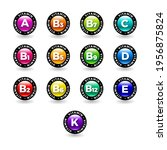 multi vitamin complex icons set....   Shutterstock .eps vector #1956875824