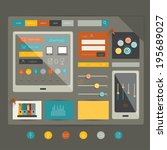 flat web page elements. vector...