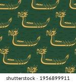 dragon boat  waves seamless... | Shutterstock .eps vector #1956899911