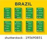 brazil group stages design ... | Shutterstock .eps vector #195690851