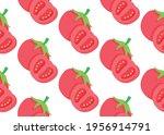vegetables  red tomatoes ... | Shutterstock .eps vector #1956914791