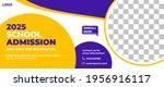 school admission web banner... | Shutterstock .eps vector #1956916117