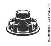 audio speaker icon. subwoofer... | Shutterstock .eps vector #1956921244