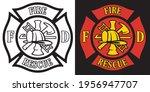 firefighter rescue maltese...   Shutterstock .eps vector #1956947707