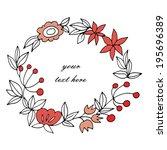 gently floral frame | Shutterstock .eps vector #195696389