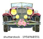 Luxury Wedding Car  Front View. ...