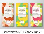 chocolate labels set. abstract... | Shutterstock .eps vector #1956974047