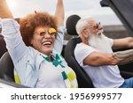 Trendy Senior Couple Having Fun ...
