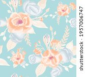 seamless vector pattern with... | Shutterstock .eps vector #1957006747