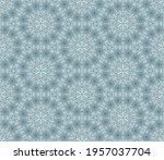 abstract colorful doodle flower ... | Shutterstock .eps vector #1957037704