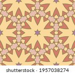 abstract colorful doodle flower ... | Shutterstock .eps vector #1957038274