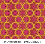 abstract colorful doodle flower ... | Shutterstock .eps vector #1957038277