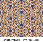 abstract colorful doodle flower ... | Shutterstock .eps vector #1957038301