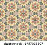 abstract colorful doodle flower ... | Shutterstock .eps vector #1957038307