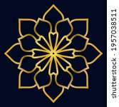 cute gold mandala. ornamental... | Shutterstock .eps vector #1957038511