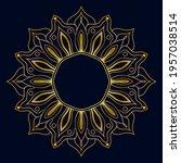 cute gold mandala. ornamental... | Shutterstock .eps vector #1957038514