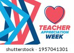 teacher appreciation week in... | Shutterstock .eps vector #1957041301