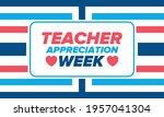 teacher appreciation week in... | Shutterstock .eps vector #1957041304
