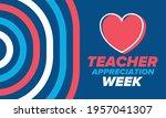 teacher appreciation week in... | Shutterstock .eps vector #1957041307