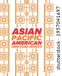 asian pacific american heritage ... | Shutterstock .eps vector #1957041697