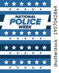 national police week in may.... | Shutterstock .eps vector #1957042864