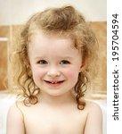 little girl in the bath | Shutterstock . vector #195704594
