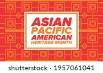 asian pacific american heritage ... | Shutterstock .eps vector #1957061041
