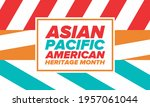 asian pacific american heritage ... | Shutterstock .eps vector #1957061044