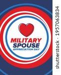 military spouse appreciation... | Shutterstock .eps vector #1957063834
