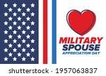 military spouse appreciation... | Shutterstock .eps vector #1957063837