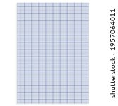 grid paper. realistic blank... | Shutterstock .eps vector #1957064011