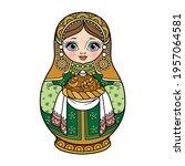 russian traditional nest doll... | Shutterstock .eps vector #1957064581