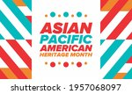 asian pacific american heritage ... | Shutterstock .eps vector #1957068097