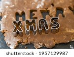 Xmas Letters In Gingerbread...