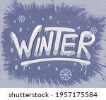 winter. cold season quality...   Shutterstock .eps vector #1957175584