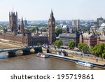 Aerial View Of London With The...