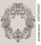 vintage baroque frame with... | Shutterstock .eps vector #1957199557