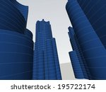 abstract buildings | Shutterstock . vector #195722174
