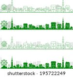 city | Shutterstock .eps vector #195722249