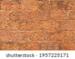 Blur Of Red Laterite Brick Wall ...