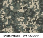 camouflage green forest pattern ... | Shutterstock .eps vector #1957229044