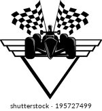 indy style of race car with... | Shutterstock .eps vector #195727499
